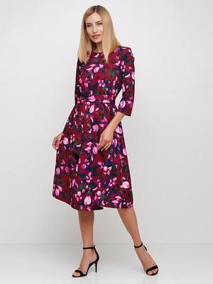 Сукня бордова в квітковий принт | 5591675