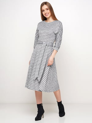 Сукня сіра в смужку | 5591598