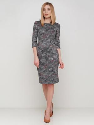 Сукня сіра в принт | 5591647