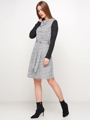 Платье серое в полоску | 5591695
