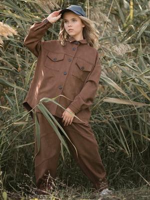 Рубашка шоколадного цвета | 5590612