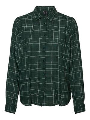 Рубашка зеленая в клетку   5569898