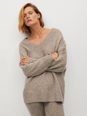 Пуловер бежевий | 5593924
