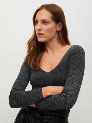 Пуловер темно-синій | 5593929