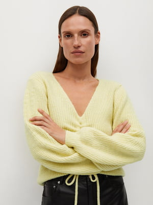 Пуловер лимонного кольору | 5593935