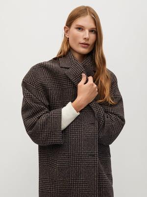 Пальто коричневое  в клетку | 5593970