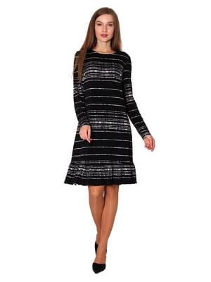 Платье черное в полоску | 5594415