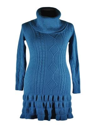Платье-туника бирюзовое | 5593923