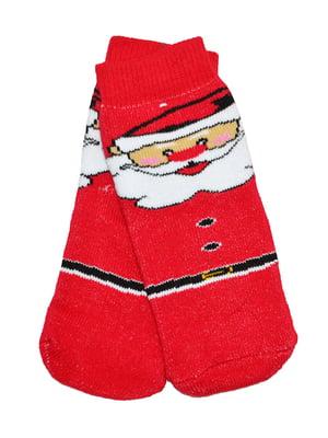 Носки красные с принтом | 5595461
