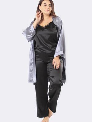Комплект: майка, штани і халат | 5595966