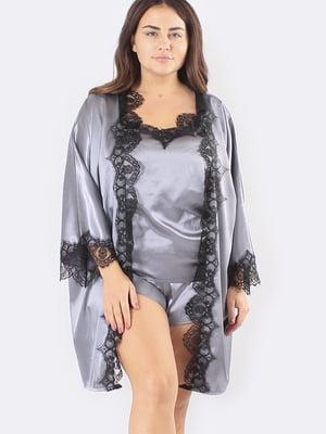 Комплект: халат, майка і шорти | 5595981