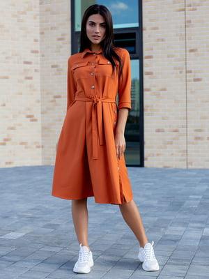 Сукня теракотового кольору | 5595953