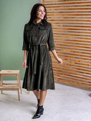 Платье цвета хаки | 5595955