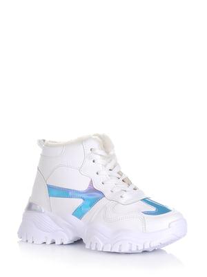 Ботинки белые с декором | 5595133