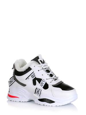 Кроссовки белые с логотипом | 5595144