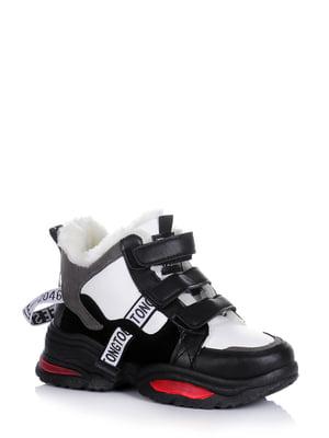 Кроссовки черные с логотипом | 5595211