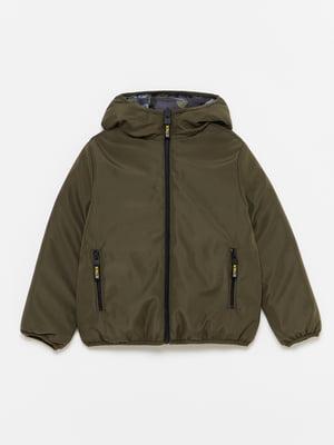 Куртка двостороння в камуфляжний принт | 5595226