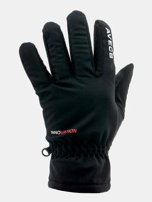 Перчатки черные с надписью-логотипом | 5596297