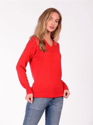 Пуловер красный | 5596270