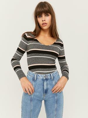 Пуловер в смужку | 5595556