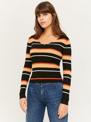 Пуловер в смужку | 5595557