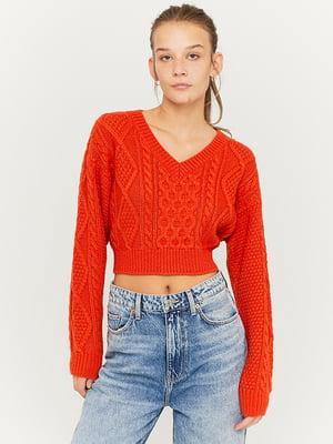 Пуловер красный | 5595599