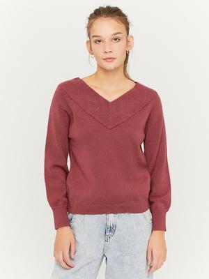 Пуловер кирпичного цвета | 5595610