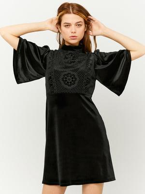 Сукня чорна з візерунком | 5595745