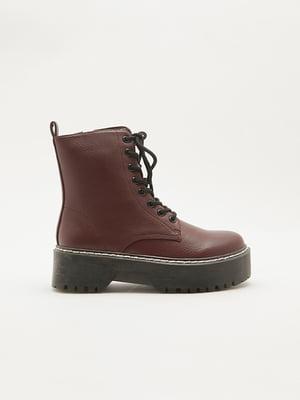 Ботинки бордовые | 5595785
