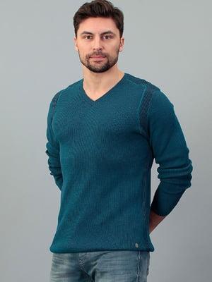 Пуловер бирюзовый | 5596315
