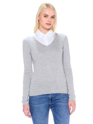 Пуловер серый | 5596316