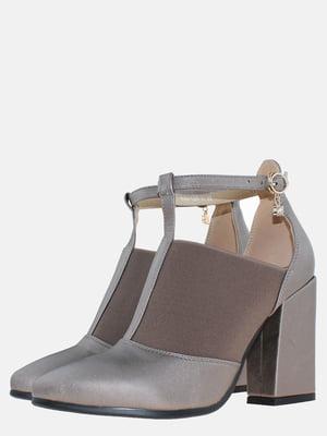 Туфли стального цвета | 5581742