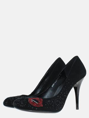 Туфлі чорні з декором | 5583275