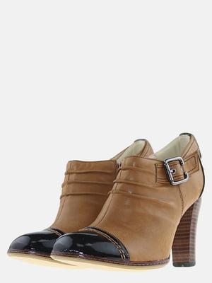 Ботильоны черно-коричневые | 5584716