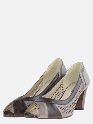 Туфлі коричнево-бежеві | 5593978