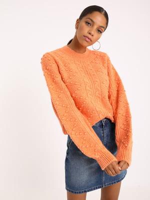 Джемпер морковного цвета с декором | 5594306