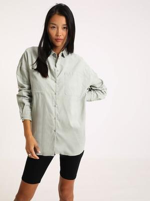 Рубашка серо-ментолового цвета | 5594342