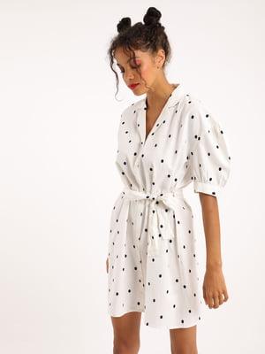 Сукня-сорочка біла в горошок | 5594369