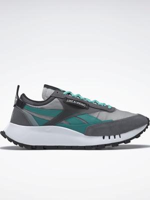 Кросівки сіро-ментолового кольору | 5589619