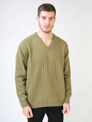 Пуловер оливкового кольору | 5596009