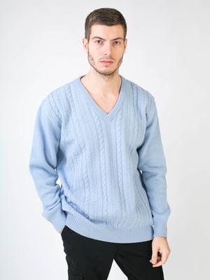 Пуловер голубой | 5596244
