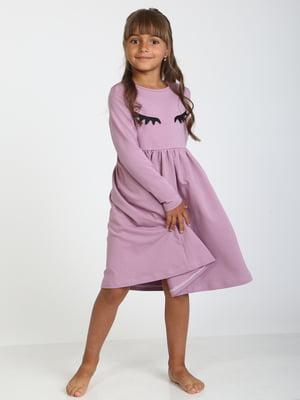 Сукня бузкова з декором | 5598427