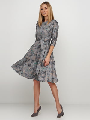 Сукня сіра в принт | 5591604