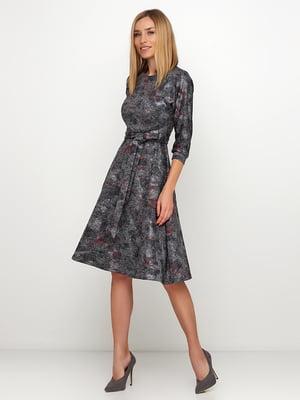 Сукня сіра в принт | 5591605