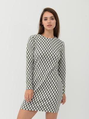 Платье серое с узором | 5375626