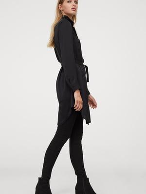 Платье-рубашка черное | 5598513