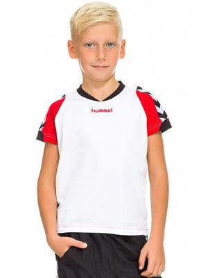 Футболка біло-червона | 5599510