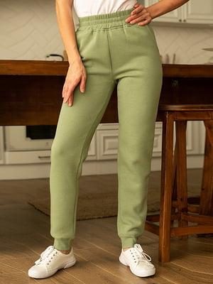 Штани спортивні оливкового кольору | 5599609