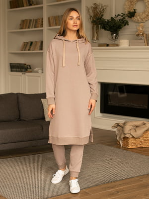 Сукня-худі бежева | 5599616