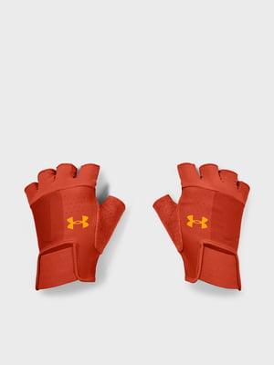 Перчатки терракотового цвета с логотипом | 5601695